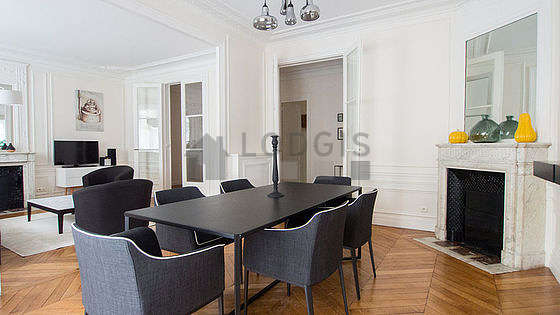 Dining room equipped with dining table, 6 chair(s)