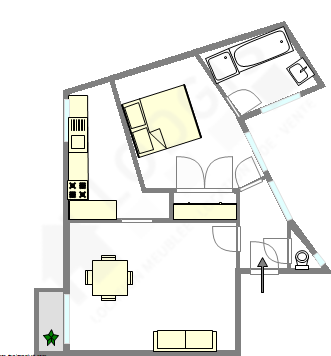 Wohnung Paris 9° - Interaktiven Plan