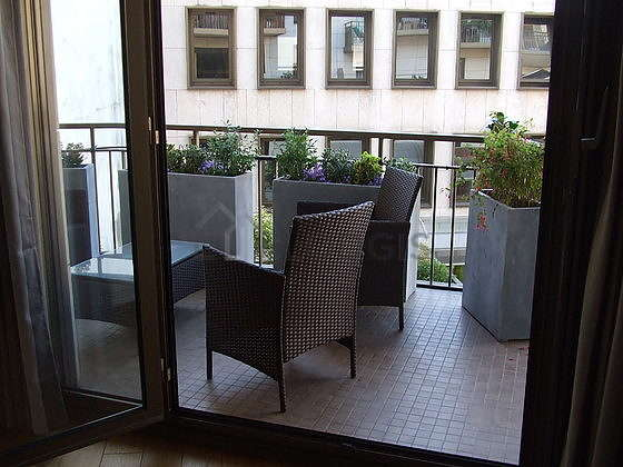 Terrasse avec vue sur jardin