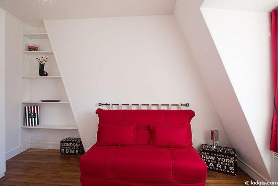 Chambre très calme pour 2 personnes équipée de 1 canapé(s) lit(s) de 140cm