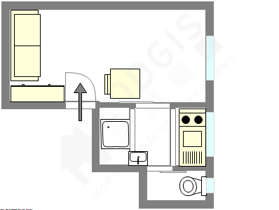 Appartement Paris 14° - Plan interactif