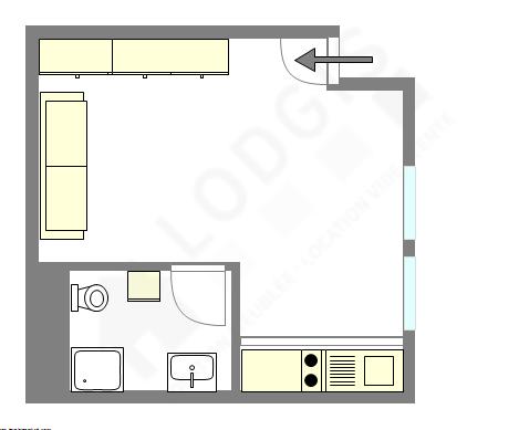 Квартира Париж 3° - Интерактивный план