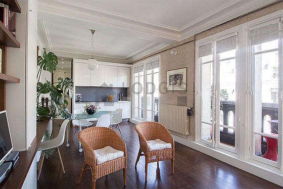 Magnifique séjour lumineux d'un appartement à Paris