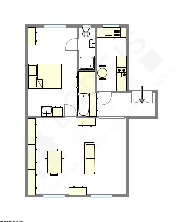 Wohnung Paris 16° - Interaktiven Plan