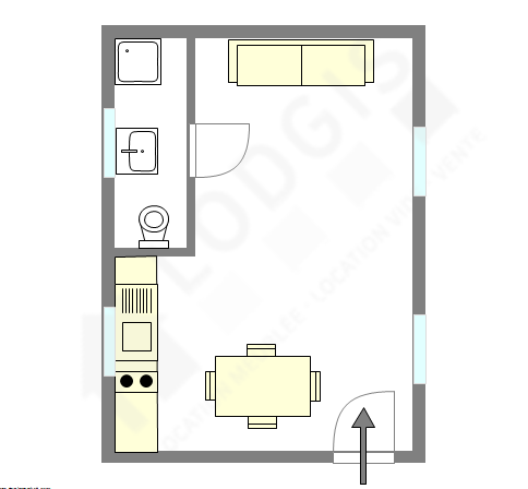 Wohnung Paris 20° - Interaktiven Plan