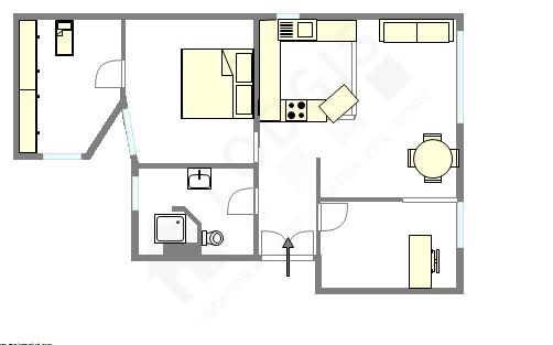 Wohnung Hauts de seine Sud - Interaktiven Plan