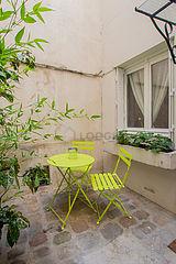 Maison individuelle Paris 4° - Terrasse