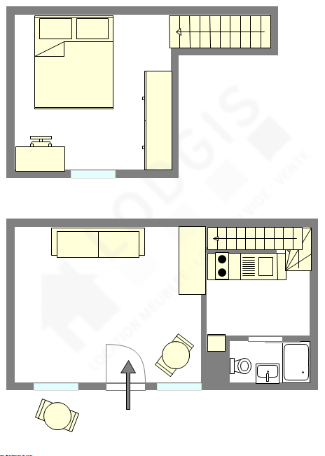 Maison individuelle Paris 4° - Plan interactif