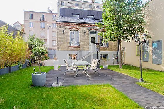 location appartement 4 chambres avec jardin et place de parking en option asni res sur seine. Black Bedroom Furniture Sets. Home Design Ideas