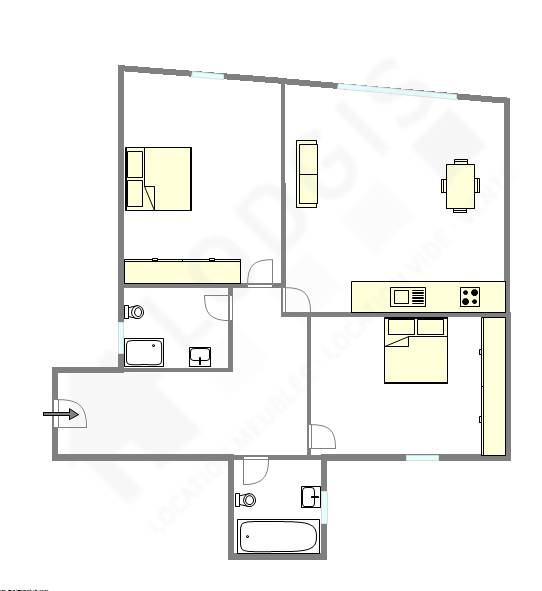 Wohnung Paris 8° - Interaktiven Plan