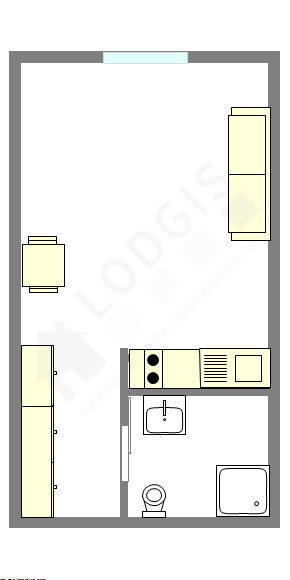 公寓 巴黎8区 - 平面图