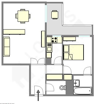 公寓 Hauts de seine Sud - 平面图