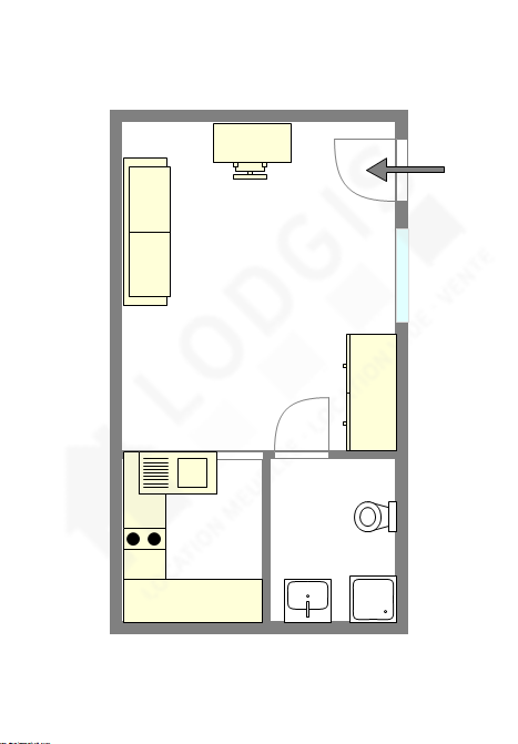 公寓 巴黎6区 - 平面图