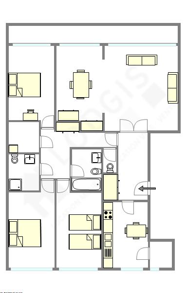 Appartamento Parigi 13° - Piantina interattiva