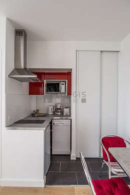 Beautiful kitchen of 3m² with its tile floor