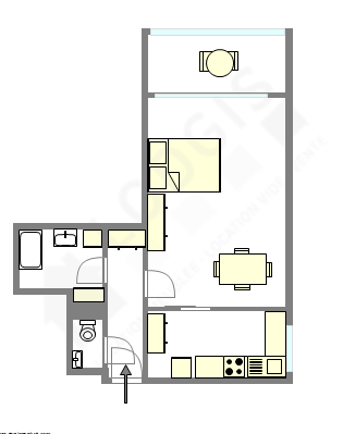 Apartment Paris 12° - Interactive plan
