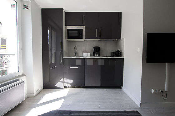 Great kitchen of 0m² with its wooden floor