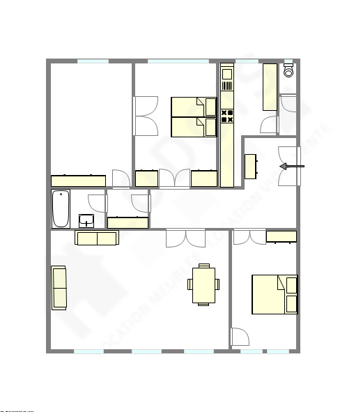 Wohnung Paris 17° - Interaktiven Plan