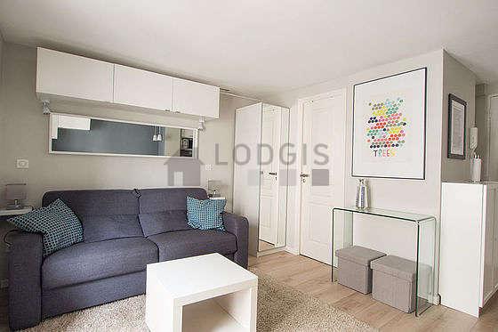 Living room with its wooden floor