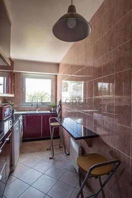 Bright kitchen with windows