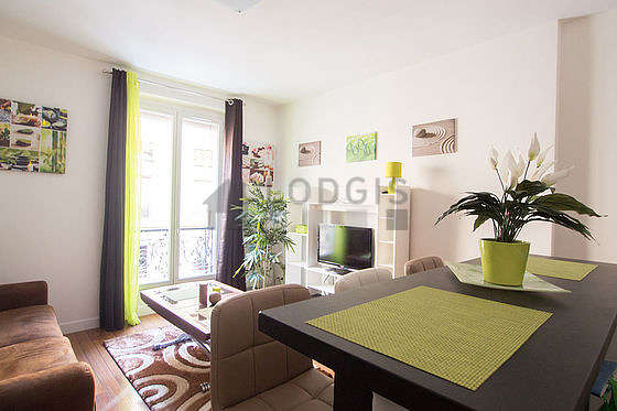 Quiet living room furnished with 1 sofabed(s) of 140cm, tv, dvd player, 1 chair(s)