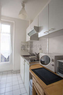 Great kitchen with tile floor