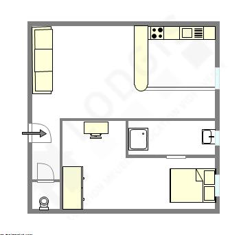 Квартира Париж 11° - Интерактивный план