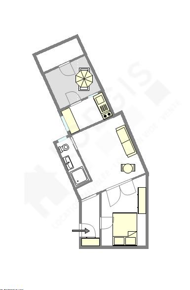 Wohnung Paris 15° - Interaktiven Plan