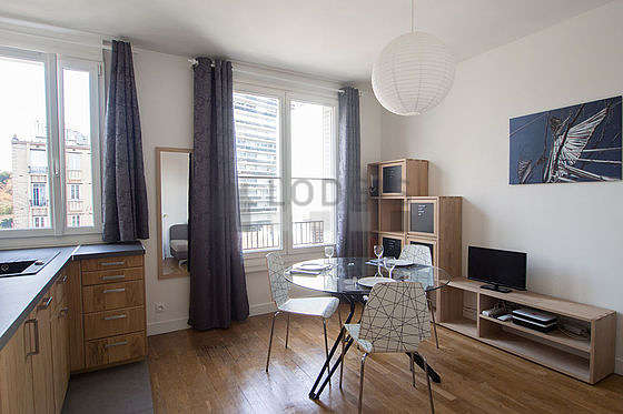 Very quiet living room furnished with 1 sofabed(s) of 140cm, tv, 1 chair(s)