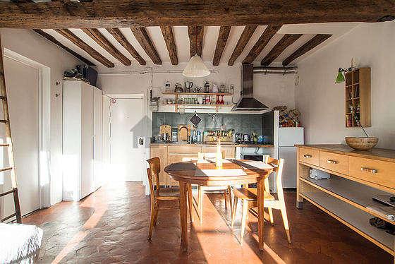 Séjour très lumineux d'un appartement à Paris