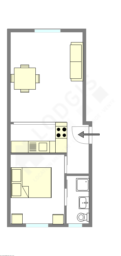 Apartment Paris 17° - Interactive plan