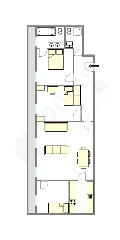 Wohnung Paris 12° - Interaktiven Plan