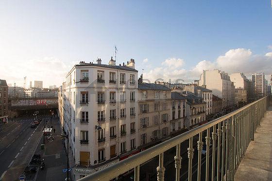 Balcony facing due south-west
