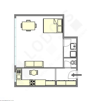 公寓 巴黎19区 - 平面图