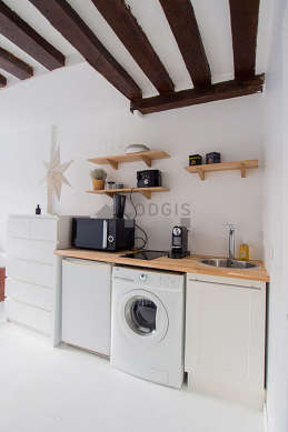 Great kitchen with floor tiles floor