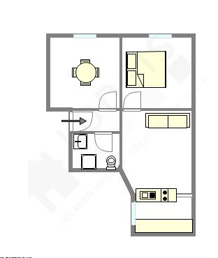 Apartamento París 15° - Plano interactivo