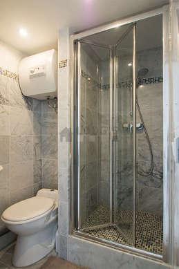 Beautiful bathroom with marble floor