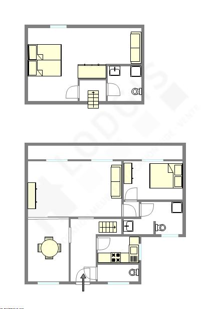 雙層公寓 巴黎8区 - 互動圖