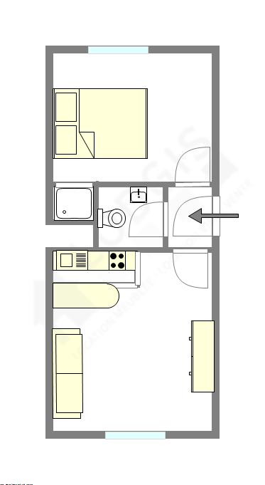 公寓 Haut de seine Nord - 平面图