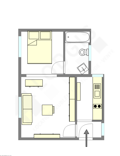 Appartement Paris 7° - Plan interactif