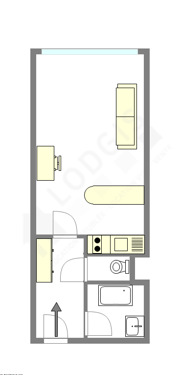 Appartement Paris 17° - Plan interactif