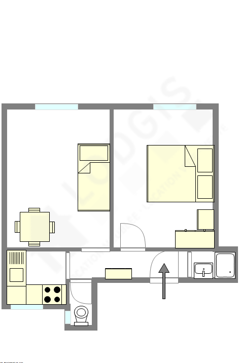 Appartement Paris 18° - Plan interactif