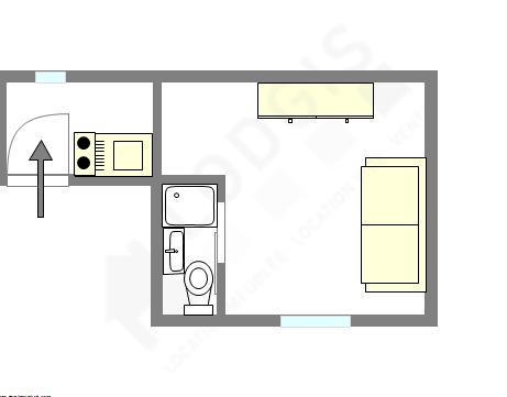 Appartamento Parigi 15° - Piantina interattiva