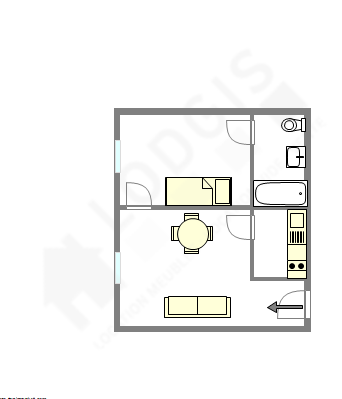 Appartement Paris 6° - Plan interactif