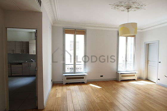 Beautiful dining room with wooden floor for 12 person(s)