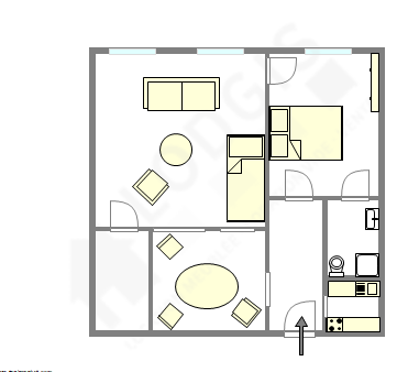 Wohnung Paris 18° - Interaktiven Plan