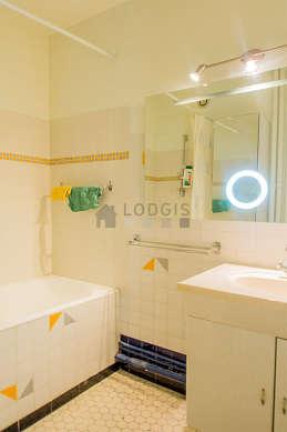 Beautiful bathroom its floor tiles floor