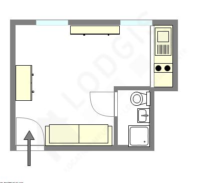 Apartamento Paris 17° - Plano interativo