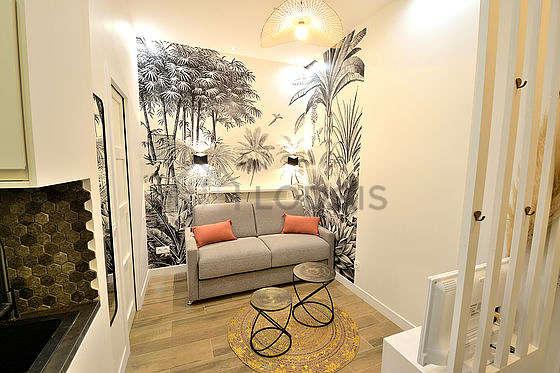 Séjour calme équipé de 1 lit(s) mezzanine de 140cm, téléviseur, chaine hifi, ventilateur