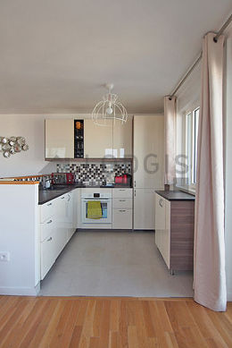 Great kitchen of 4m² with its tile floor